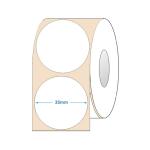Etichete semilucioase rotunde